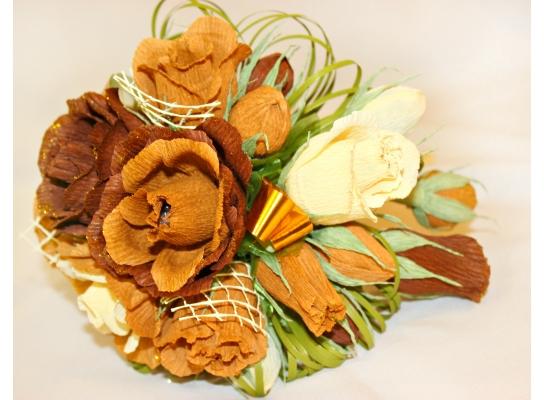 Букет из конфет Кофейный Рожок фото