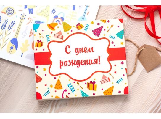 Шоколадный набор С Днем Рождения большой фото