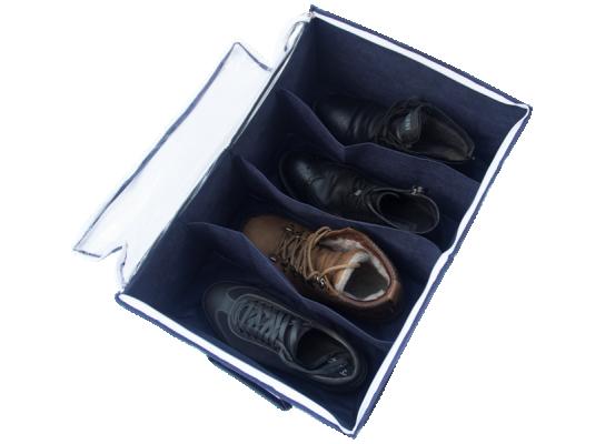Органайзер для обуви на 4 секции Джинс фото