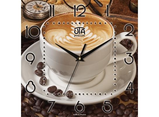 Часы квадратные Кофе Чашка фото