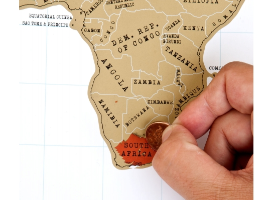 Scratch map White настенная карта мира на русском языке фото
