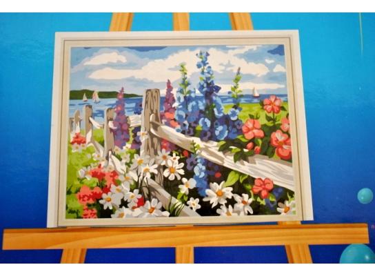 Картина на холсте по номерам Полевые цветы фото