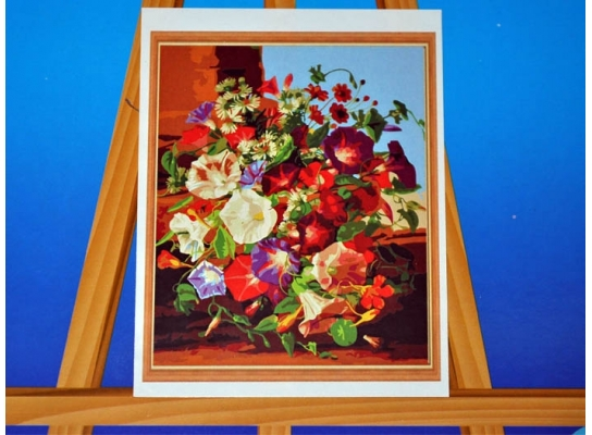 Картина на холсте по номерам Колокольчики фото