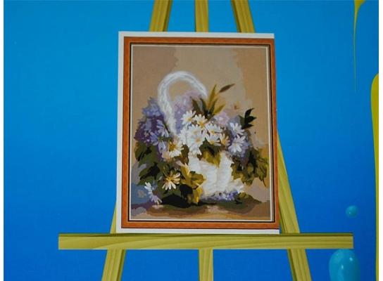 Картина на холсте по номерам Корзинка фото