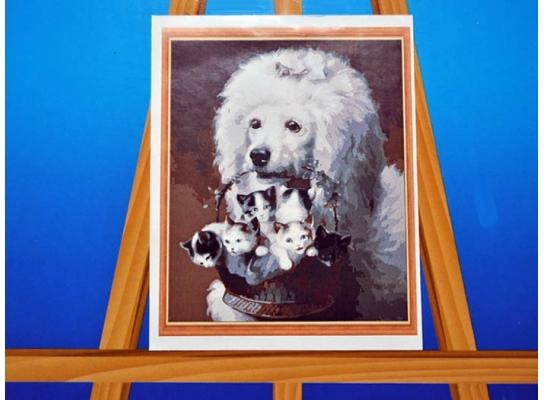 Картина на холсте по номерам Пудель фото