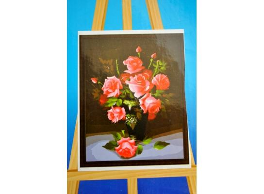 Картина на холсте по номерам Розы фото