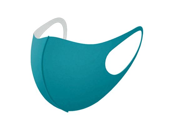 Трехслойная защитная маска многоразовая бирюзовый фото 5