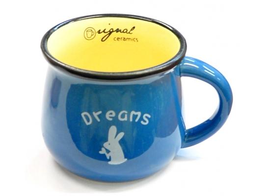 Керамическая чашка Smile синяя фото