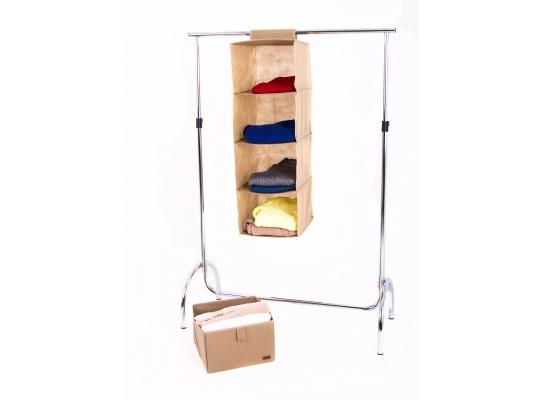 Подвесная полка-органайзер для вещей с ящиком L фото