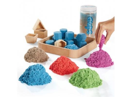 Кинетический песок + 6 формочек