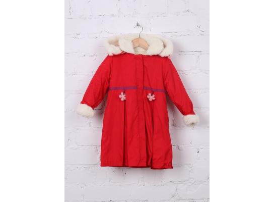 Пальто для девочки Клубничка фото