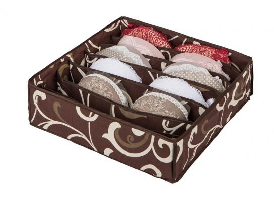 Коробочка для белья на 7 секций Горячий Шоколад фото