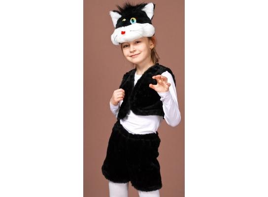 Детский карнавальный костюм Черный кот фото