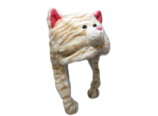 Шапка с ушками Рыжий кот фото