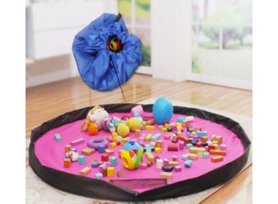 Коврик-сумка для игрушек, органайзер фото