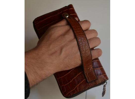 Кожаный клатч мужской ручной m013 фото