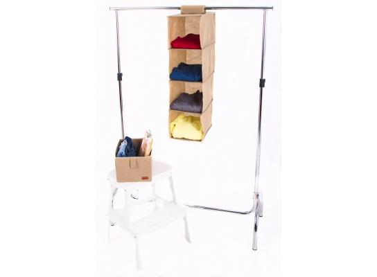 Подвесная полка-органайзер для вещей с ящиком M фото