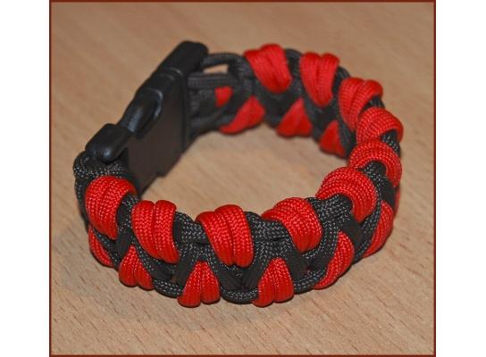 Паракордовый браслет выживания Красный Дракон фото