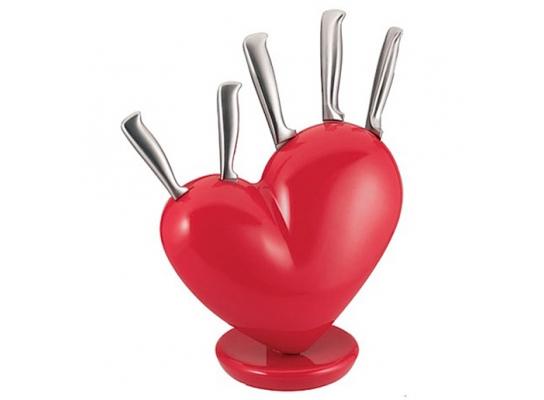 Набор ножей на подставке Love фото