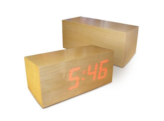 Часы Wooden Clock прямоугольные фото