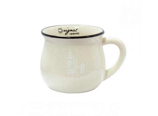 Чашка кувшин керамическая Zakka, бежевая, 250 мл. L.O.N.D.O.N. Лондон фото