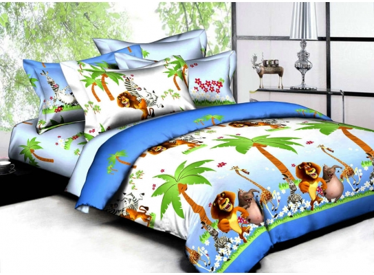 Подростковое постельное бельё Мадагаскар фото