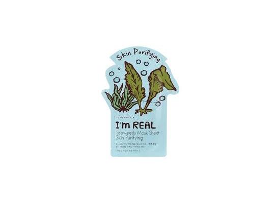 Маска для лица с экстрактом морских водорослей Tony Moly I'm Real Seaweeds Mask Sheet