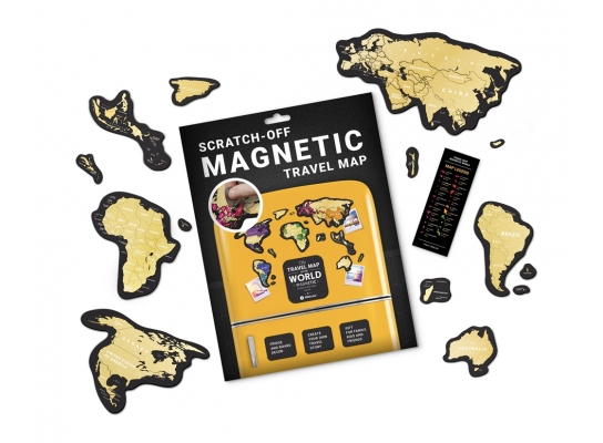 Скретч Карта Мира Travel Map MAGNETIC World фото