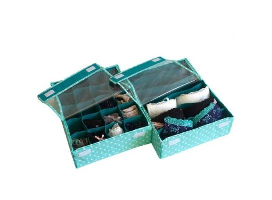 Комплект органайзеров из 2 шт с крышками Мохито фото