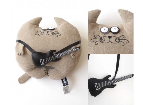 Мягкая игрушка Кот Музыкант Большой фото