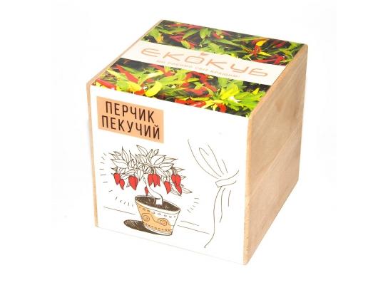 Набор для выращивания Экокуб Жгучий красный перец фото 1