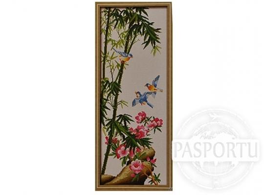Набор для вышивки картины Волшебные синие птицы 91х40см фото