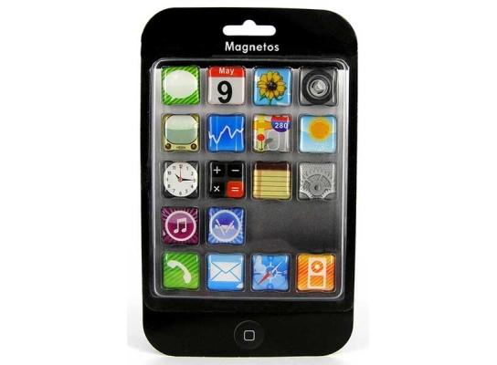 Набор магнитов Iphone, 18 шт фото