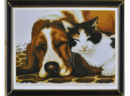 Набор для вышивки картины Дружба 44х35см фото
