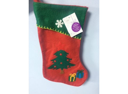 Новогодний носок Елочка с подарками