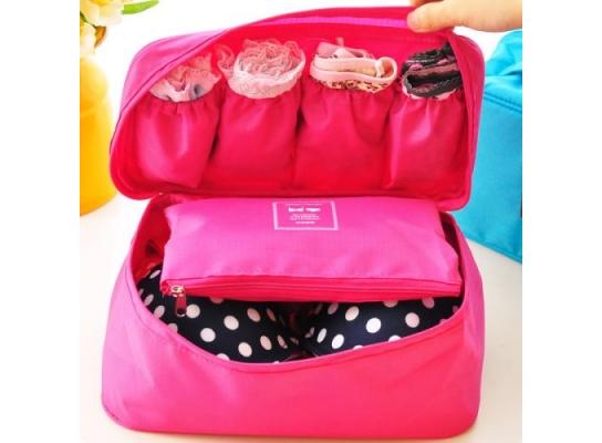 Туристический органайзер для белья Розовый фото