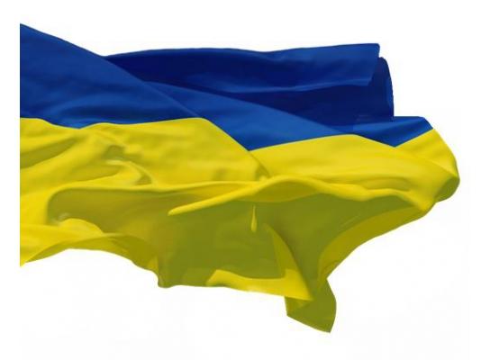 Флаг Украины 1х1,5 м фото