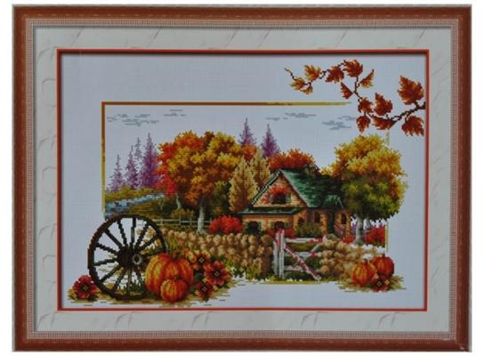 Набор для вышивки картины Дары Осени 65х45см фото