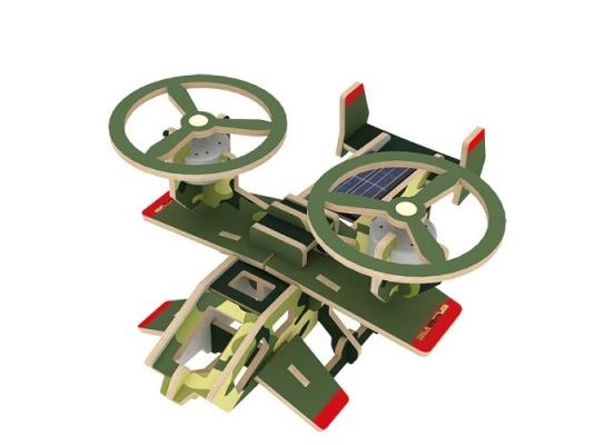 Деревянный конструктор «Самолет Самсон» на солнечной батарее фото