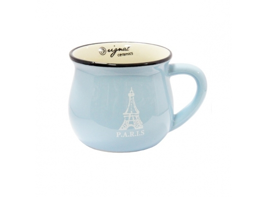 чашка кувшин керамическая Zakka, желтая, 250 мл. P.A.R.I.S. Париж фото