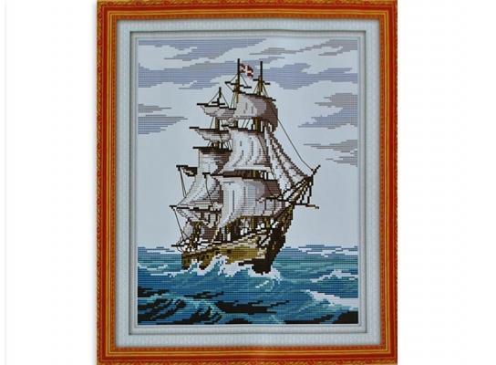Набор для вышивки картины Корабль 44х35см фото