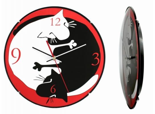 Часы настенные Инь-Ян - Коты фото
