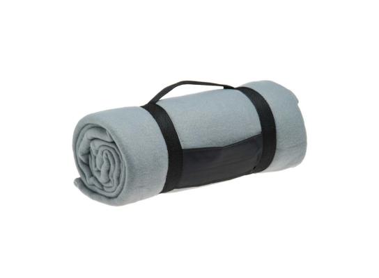 Компактный плед с ручкой Серый фото
