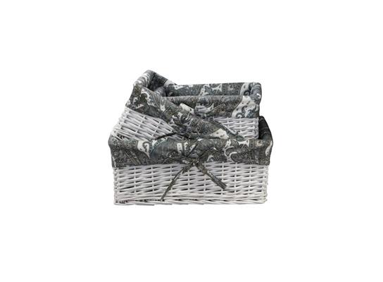 Плетеная корзинка Узоры