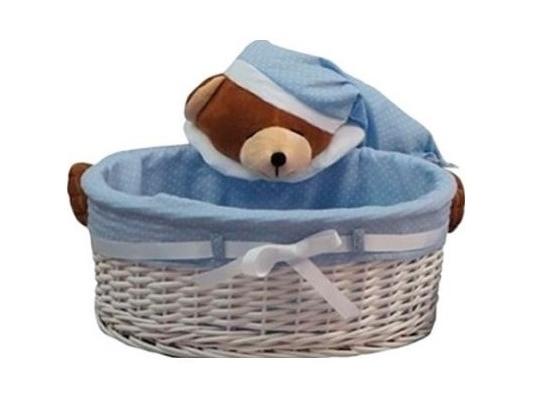 Плетеная овальная корзинка Сонный мишка