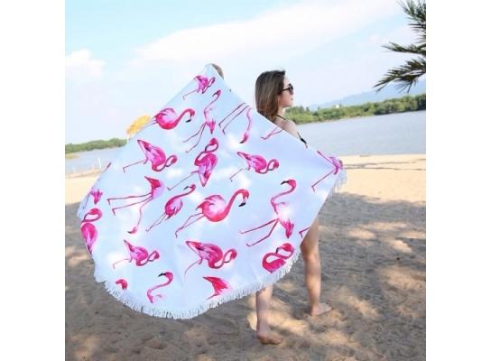 Пляжный коврик Фламинго фото
