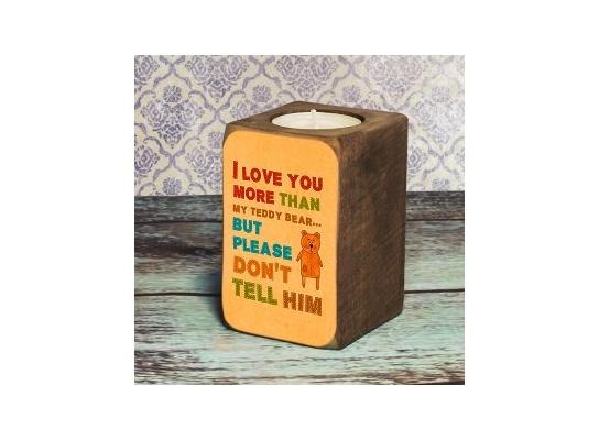 Подсвечник Я люблю тебя больше