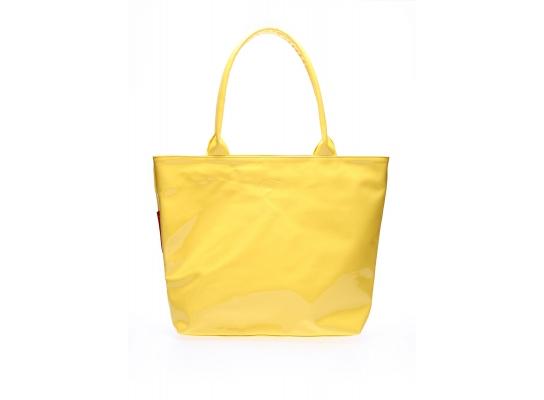 Сумка лаковая желтая Рoolparty фото