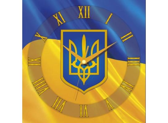 Часы квадратные Флаг Украины фото