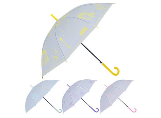 Зонт-трость полуавтомат ПВХ Романтика фото